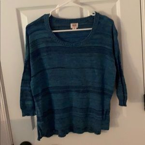 Mossimo blue and green striped sweater S